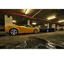 Lamborghini & Ferrari Face Off Photographic Print
