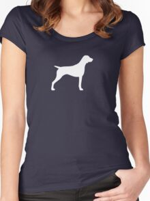 German Shorthaired Pointer Silhouette(s) Women's Fitted Scoop T-Shirt