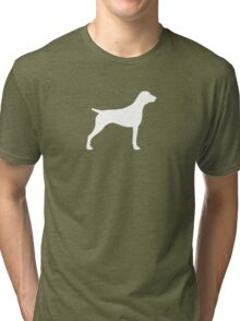 German Shorthaired Pointer Silhouette(s) Tri-blend T-Shirt