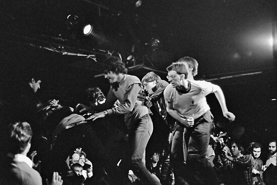 Stage Diving At The Channel, 1981 by gailrush