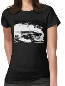 AREA 51 STAR CRUISER Womens Fitted T-Shirt