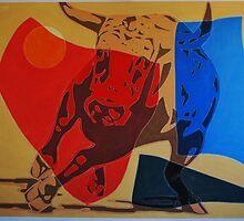 Running Bull by Varvarasty