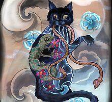 Black Cat Gecko by declantransam