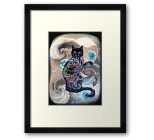 Black Cat Gecko Framed Print
