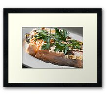 Baked Red Salmon Framed Print