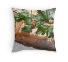 Baked Red Salmon Throw Pillow