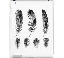 hand drawn feathers design iPad Case/Skin