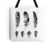 hand drawn feathers design Tote Bag