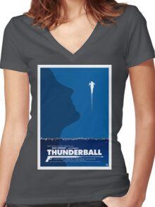 Thunderball - James Bond Movie Poster Women's Fitted V-Neck T-Shirt