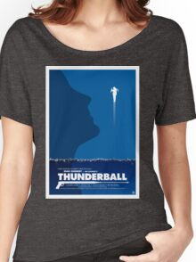 Thunderball - James Bond Movie Poster Women's Relaxed Fit T-Shirt