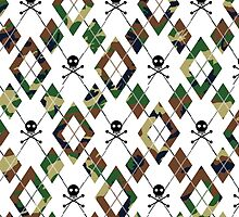Camouflage Argyle & Black Skulls Pattern by PrivateVices