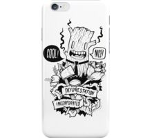 Doodleart - Deforestation Incorporated iPhone Case/Skin