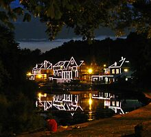 Boathouse Row in Black. Philadelphia, Pennsylvania by vadim19