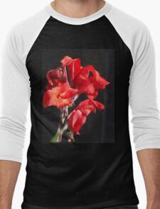 Very Red Flowers Men's Baseball ¾ T-Shirt