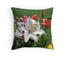 White Lily & Co Throw Pillow