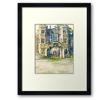 Campers Sketching the Castle One Morning in June Framed Print