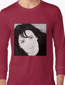 Black & White Portrait Long Sleeve T-Shirt