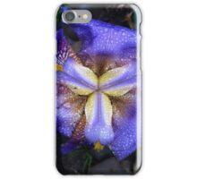 Iris fresh with raindrops iPhone Case/Skin