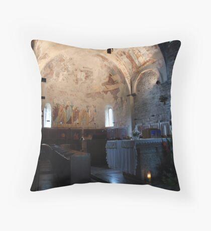 Abbey of Piona, the Main Altar Throw Pillow
