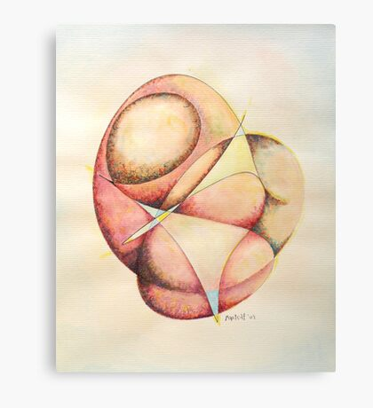 "The Millenium Stone - watercolor - 8"" x 10"" Canvas Print"