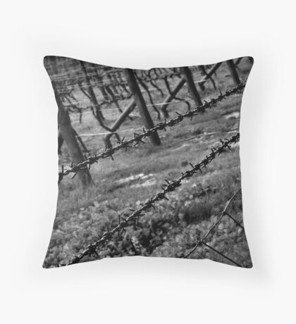 Barbed Vines Throw Pillow