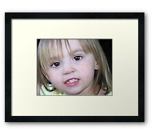 Brown-eyed girl... Framed Print