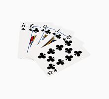 Poker Hands - Royal Flush Clubs Suit T-Shirt