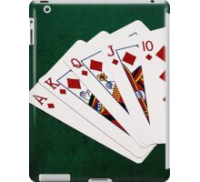 Poker Hands - Royal Flush Diamonds Suit iPad Case/Skin