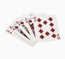 Poker Hands - Royal Flush Diamonds Suit T-Shirt