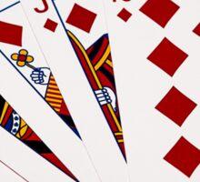 Poker Hands - Royal Flush Diamonds Suit Sticker