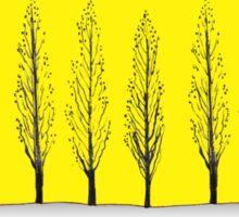 Poplars in a Yellow Sky Sticker