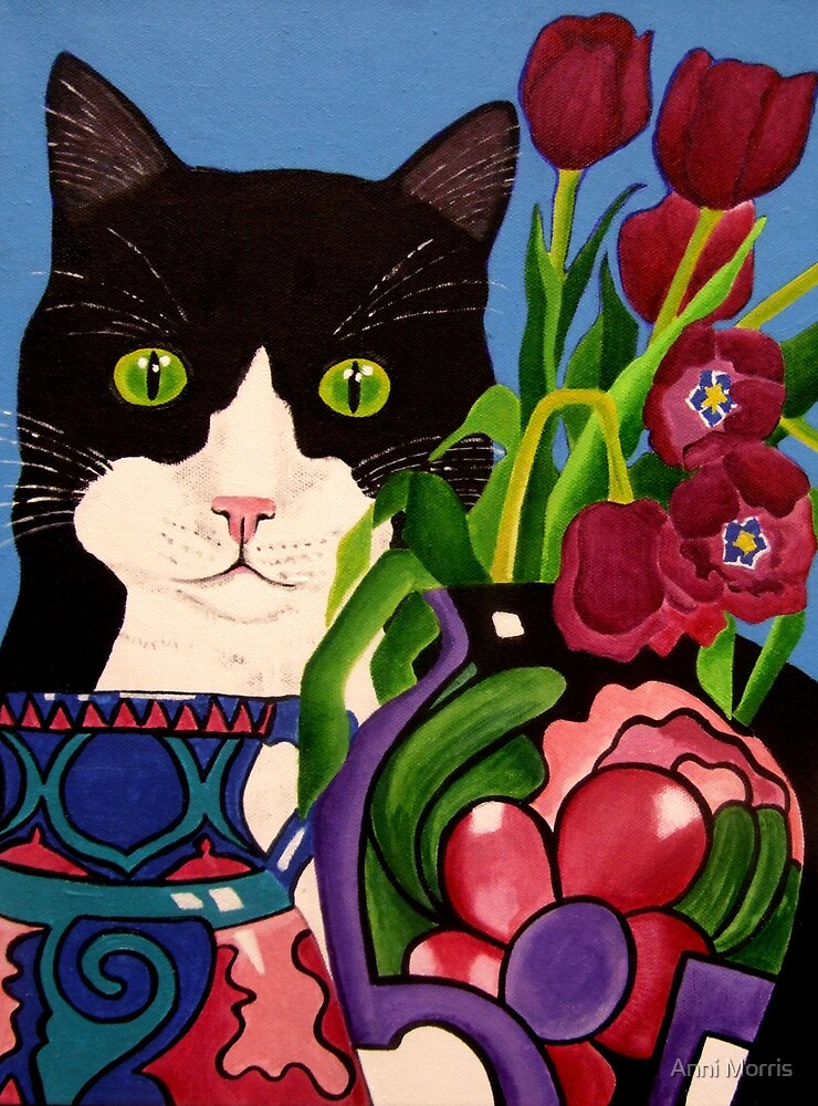 Tullulah and Tulips by Anni Morris