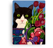 Tullulah and Tulips Canvas Print