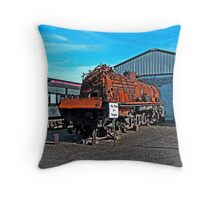 The Toasted Rusted Chinese Steam Engine Throw Pillow