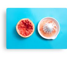 Juiced Grapefruit Metal Print