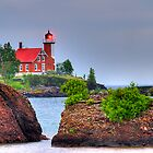 Eagle Harbor Lighthouse II by Mark Bolen