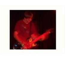Flaming Guitar Art Print
