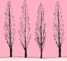 Poplars in a Pink Sky Sticker