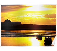 Sunset at Seabrook Poster