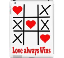 LOVE ALWAYS WINS/ Clothing+Products Design iPad Case/Skin