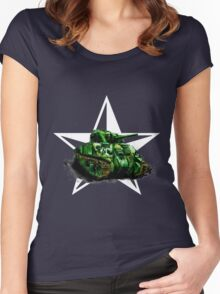 WW2 Sherman Army Tank Women's Fitted Scoop T-Shirt