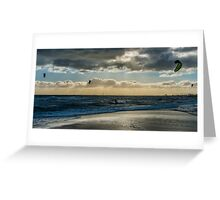Brighton Kite-Surfing Greeting Card