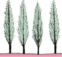 Poplars on pink Sticker