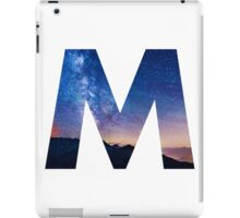 The Letter M - night sky iPad Case/Skin