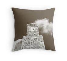 Smoking Stack Throw Pillow