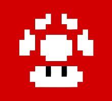 1UP Red - Super Mario Bros  by Gustavinlavin