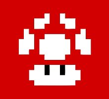 1UP Red - Super Mario Bros  by Gustavinlavin