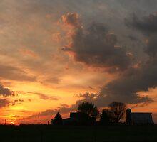Sunrise over the neighbors farm by blather44