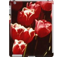 HELLO HERE WE ARE!! - TULIP FIELD Red and White like Candy Cane iPad Case/Skin