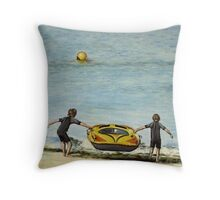 Cap'n and First Mate Throw Pillow